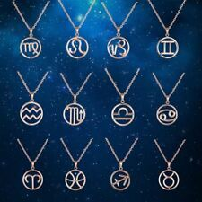 Special Birthday Gifts Zodiac S/S Necklaces Pendants 18K Gold Plated Jewelry