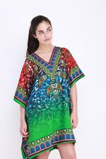 Plus Size Kushi Kaftan Tunic Holiday Top Beach cover up 14,16,18,20,22,24,24
