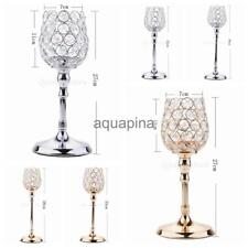 European Crystal Votive Candle Holder Tea Light Candlestick Home Party Decor