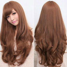 Women Lolita Curly Wavy Long Full Wig Heat Resistant Cosplay Party Hair Braw