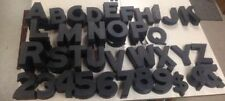 """VINTAGE WAGNER 6"""" PLASTIC THEATER MOVIE MARQUEE LETTERS NUMBERS PIECES 6 1/4"""""""