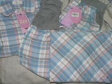 Peter Alexander Blue Check Plaid flannelette Legwarmer 2 piece PJ Set in Medium