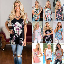 UK Summer Womens Ladies Long Sleeve Casual T-Shirt Tops Loose Blouse NEW 6-14