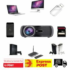 BL-80 3D Home Cinema Theater Video LED Projector 1080P HD HDMI AV USB VGA PC BU