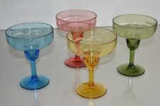 $110 NEW Williams Sonoma 4 Pc  DuraClear Margarita Glasses Red Blue Green Yellow