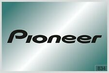 PIONEER logo1 -2 pcs. stickers  - HIGH QUALITY DECALS - different colors - №834