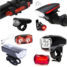 Super Bright USB LED Bike Bicycle Light Front Head Light + Taillight Rear Lamp
