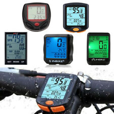 Wireless Bicycle Cycle Bike Computer Speedometer Waterproof Odometer Meter Time