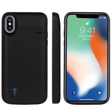 5000mAh Rechargeable Extended Battery Backup Power Bank Cover Case For iPhone X