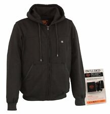 Milwaukee Performance Men's Black HEATED Hoodie w/ Rechargeable Battery Pack