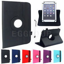 """AU For 7"""" 8"""" 10"""" Tablets PC 360° Rotating Universal Folio Leather Case Cover ER"""