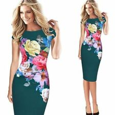 Women Flower Floral Printed Ruched Cap Sleeve Ruffle Casual Party Dress