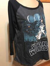 NWT $29 Hybrid Juniors Star Wars Cutout Back Graphic Top Charcoal black S-M-L XK