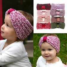 Infant Baby Kids Knit Bow Headband Hair Accessories Crochet Hair Band Headwear