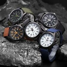 New Mens Military Sports Watch Stainless Steel Analog Army Quartz Wrist Watch AE