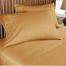 1000TC 100%EGYPTIAN COTTON ALL HOME BED LINENS UK SIZES GOLD SOLID