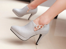 Women Fashion Plus size glitter Party pumps shoes sexy high heels ankle boots