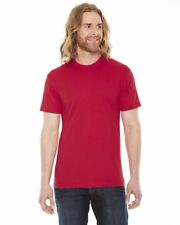 American Apparel Unisex T-Shirt Poly Cotton Fitted Ultra Soft Crew Neck T-Shirt