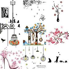 Wall Decal Stickers DIY Birds Tree Removable Vinyl Home Room Decor Art Surprise