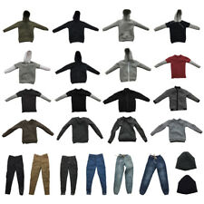 Casually Cool Hoodie Tee Shirt Trousers Hat Clothing for 1/6 Scale Action Figure