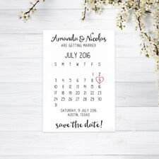 PERSONALISED CALENDAR SAVE THE DATE CARDS INVITATIONS WEDDING RECYCLED WHITE