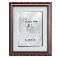 Lawrence Frames Walnut Wood and Gold Bead Picture Frame