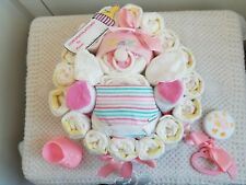 """""""Just Me"""" Baby Bump Belly Diaper Cake Baby Shower Centerpiece Gift Set Girl Boy"""