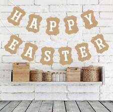 HAPPY EASTER Banners Face Flag Holiday Party Garlands Photo Props Decorations
