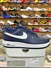 Nike Mens Air Force 1 Low Midnight Navy White CLASSIC 488298-436 100%AUTHENTIC!!