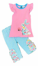 Girl's Boutique Clothing Easter Peter Cottontail Rabbit Top + Capri Pants Outfit