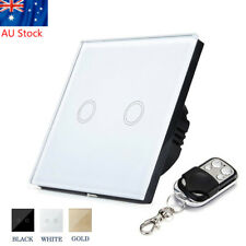 1/2/3 Gang Dimmer Tempered Glass Touch Light Wall Switch Panel & Remote Control