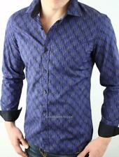 Armani Exchange A|X Geo Optical Dots Print Fitted Long Sleeve Shirt NWT