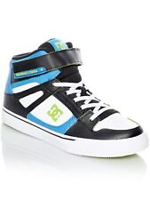 DC Blue-Black-White Pure SE EV Kids Hi Top Shoe