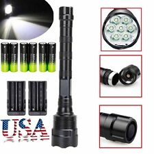 Tactical 80000Lumens LED Flashlight Torch 5-Mode 7xT6 Super Bright Light Lamp#