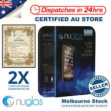 2X Genuine NUGLAS Tempered Glass Screen Protector for Apple iPhone 5 5s C SE