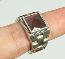 925 Sterling Silver Mens Jewelry Malagasy Red Ruby Gemstone Men's Ring