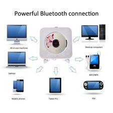 Bluetooth CD Player Wall Mountable Home Audio with Remote Control Built-in Hifi