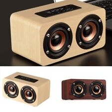 Wood Wireless Bluetooth Speaker Portable Party Audio Theatre Mini Sound Receiver