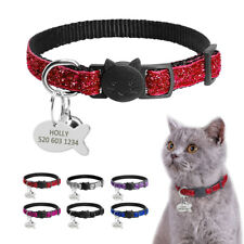 Sequins Dog Kitten Cat Breakaway Collar & Tag Safety Quick Release for Pet Puppy
