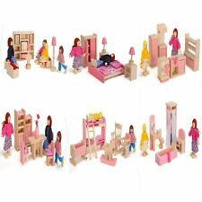 Furniture Dolls House Miniature 6 Room Type Learn Toys For Kids Children