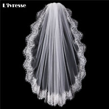 Wedding Veil Full Edge Lace Short One Layer Comb Bridal Accessories Classy Style