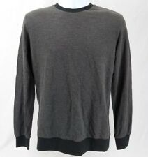 Forever 21 Men Long Sleeve Shirt, Size XS Extra Small, Grey Black Trim...