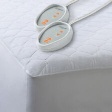 Heated Mattress Pad Bed Warmer Dual Control Quilted Blend Electric Mattress Pad