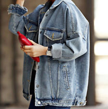2018 Boyfriend Jeans Coat Retro Oversize Cowboy Woman Denim Loose Casual Jacket