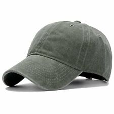 Unisex Washed Twill Cotton Unstructured Low Fitting 6 Panel Baseball Caps NEW