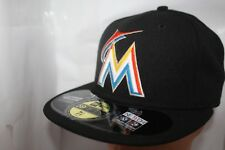 Miami Marlins New Era MLB Authentic Collection 59fifty,Cap,Hat    Black      NEW