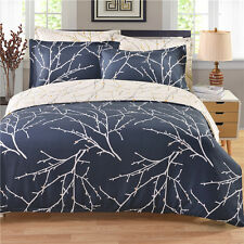 Tree Pattern Quilt Duvet Cover Pillowcases Home Bedding Set Twin Queen King Bed