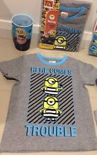 NEW DESPICABLE ME 3 Minions Licensed Tee top & 2 X UNDIES & CUP sz 5 FREE POST