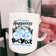 Bicycle Make Me Happy Coffee Mug, You Can Buy A Bicycle Cup