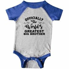 Inktastic Officially The World's Greatest Big Brother Infant Creeper Best Baby